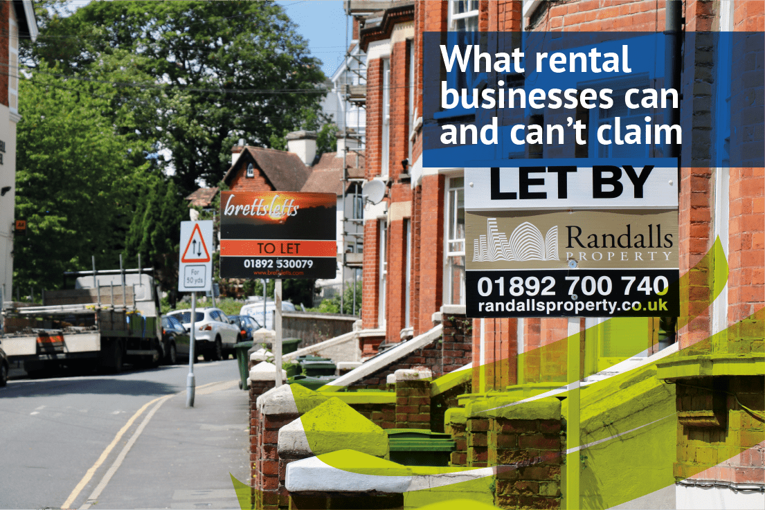 What rental businesses can and can't claim